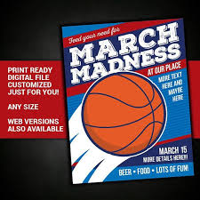 March Madness Flyer March Madness Flyer Poster College Basketball Playoffs Final 4 Event