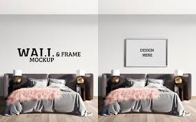 frame mockup luxurious modern bedrooms