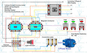 wiring diagram reverse motor wiring diagram and schematics forward reverse motor control diagram for 3 phase electrical reversing contactor