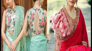 Floral Print Blouse Designs For Sarees Top 10 Floral Printed Blouse Designs For Plain Sarees