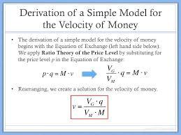 derivation of velocity of money model