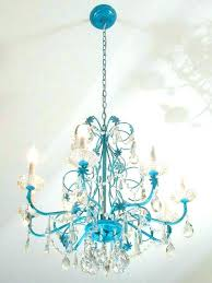 turquoise crystal chandelier turquoise crystal chandelier turquoise chandelier crystals chandeliers chandelier makeovers blue chandelier redo easy