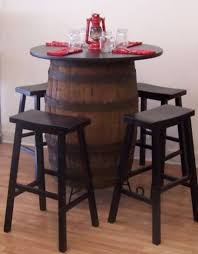 Whiskey Barrel Table36 Top4 Bar StoolsStand 36 Bar Stools E64