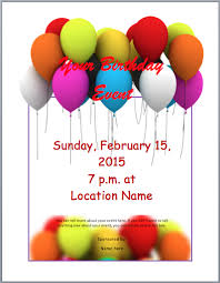 Birthday Party Invitation Template Word Free Birthday Party Invitation Flyer Template Free Word Templates