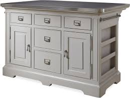 Metal Kitchen Island Tables The Kitchen Island With Stainless Wrapped Metal Top By Paula Deen