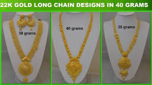Gold Long Necklace Designs In 35 Grams Episode 643 Gold Long Chain Designs In 40 Grams