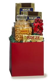 big red box with colossal cashews