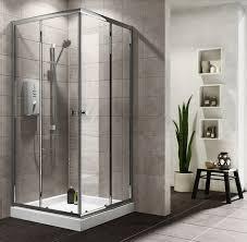 plumbsure square shower enclosure with double sliding doors