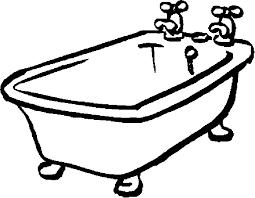 bath tub clip art coloring page get coloring pages