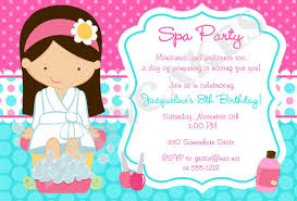 Spa Birthday Party Invitation Awesome Free Printable Spa Party