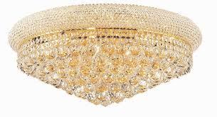 primo 12 light gold flush mount clear swarovski elements crystal