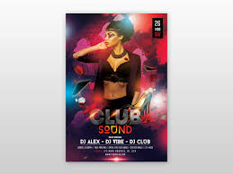 Club Flyers Address The Club Sound Free Psd Flyer Template By Pixelsdesign Net