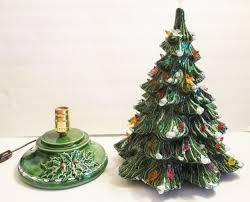 Ceramic Christmas Tree With Bird Lights Ceramic Christmas Tree Musical Base Flocked Color Bird