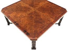 Burl Coffee Tables John Widdicomb Mid Century Modern Faux Bamboo Base And Burl Wood
