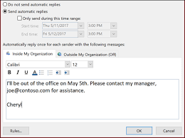 Automatic Respond Send Automatic Out Of Office Replies From Outlook Outlook