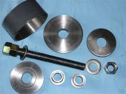 homemade wheel bearing puller. rear wheel bearing replacement on \u002786 944 na homemade puller