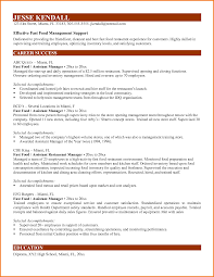 Fast Food Resume Sample 100 fast food manager resume Financial Statement Form 24