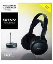 sony tv headphones. sony mdr-rf811rk wireless rechargeable stereo headphones, tv, hi-fi , pc tv headphones y
