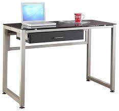 best metal computer desk fantastic furniture home design ideas with astounding black glass l shaped chrome