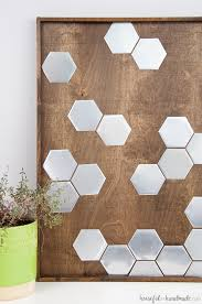 I love this idea for art! Use a combination of wood and metal to make