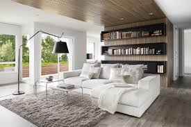 Simple White Sofa Chaise and Tables on Grey Carpet Rug for Great Interior  Design Ideas