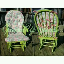 custom rocking chair cushions. Items Similar To Custom Glider Cushion Set, Customize Design, Rocker Replacement Cushions, Top And Bottom Rocking Chair Design On Cushions