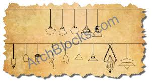 cad blocks lighting pendants