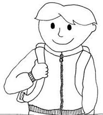 Small Picture A Boy with His Backpack on First Day of School Coloring Page