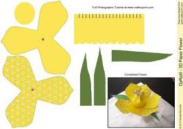 Daffodil Paper Flower Pattern Daffodil Paper Flower Template Related Keywords Suggestions