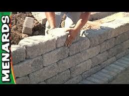 retaining wall how to build menards