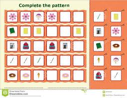 Pattern Worksheet Simple Design