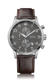 classic men s watches and chronographs from hugo boss chronograph hb2006 a leather strap