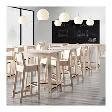 table bar. ikea norrÅker bar table less risk of children hitting their head as the has rounded u