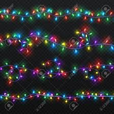 Colored String Lights Realistic Colorful String Lights Design Elements In Transparent