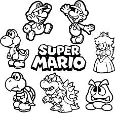 Super Mario Galaxy Coloring Pages Bballcordobacom