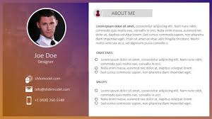 Resume In Powerpoint Free Simple Resume Powerpoint Template