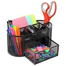 office desk decoration items. Unique Office Mesh Desk Organizer Caddy For Office Supplies And Accessories  Black On Decoration Items C