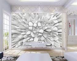 Beibehang White 3d Radiant Stone Photo ...