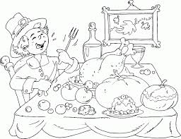 Small Picture Thanksgiving Meal Coloring Pages Pilgrim Thanksgiving Free