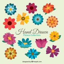 colorful flower patterns. Simple Colorful Variety Of Colorful Flowers In Flat Style Inside Colorful Flower Patterns T