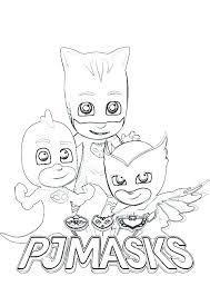 Pj Mask Coloring Pages And Coloring Masks Colouring Printable