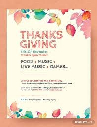 Free Thanksgiving Flyer Template In Adobe Photoshop