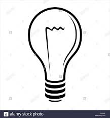 Light Bulb Graphic Light Bulb Graphic Black And White Stock Photo 240480542