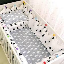77 gray trees pattern 9 piece 100 cotton baby crib bedding set