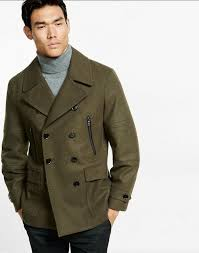 new express men s wool blend moto peacoat coat jacket size xs