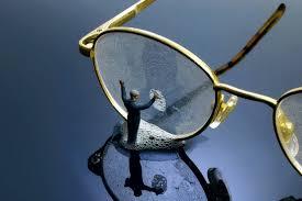 Resultado de imagem para end up scratching the lenses of your glasses