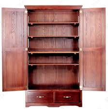 Tall Pantry Cabinet For Kitchen Kitchen Cherry Wood Pantry Cabinet With Rustic Pantry Cabinet Also