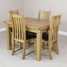 delivery dorset natural real oak dining set: custom delivery dorset natural real oak dining set ft extending table with scroll back brown leather