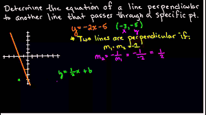 finding the equation of a line perpendicular to another line that p through a point