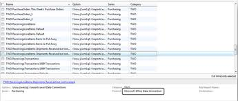 Microsoft Office Reports How To Modify An Office Data Connection In Dynamics Gp